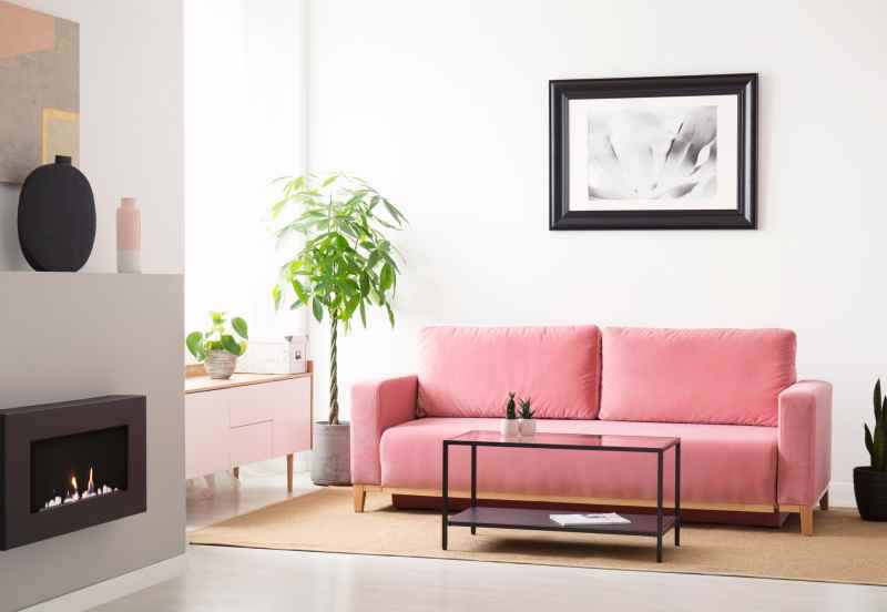 Canapé coloris rose