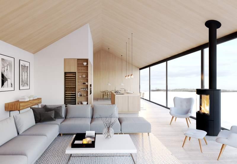 Loft intérieur style New Nordic scandinave