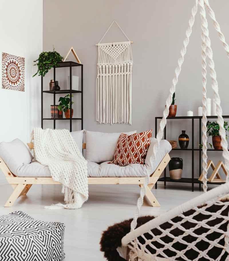 Style boho chambre lumineuse