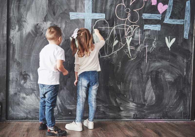 Peinture ardoise chambre d'enfant