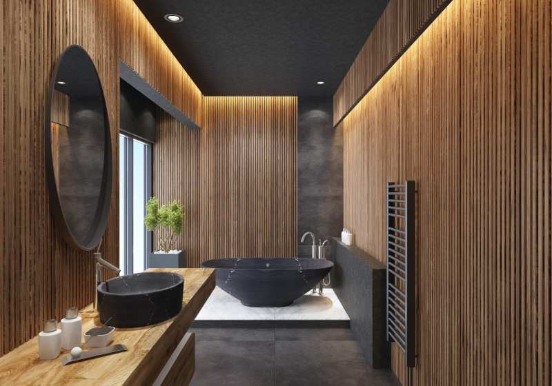 Inspiration salle de bain bois