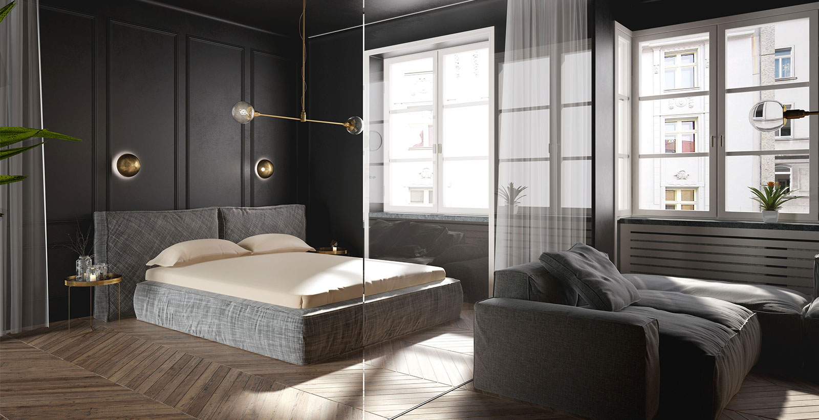 Chambre style glamour Oknoplast