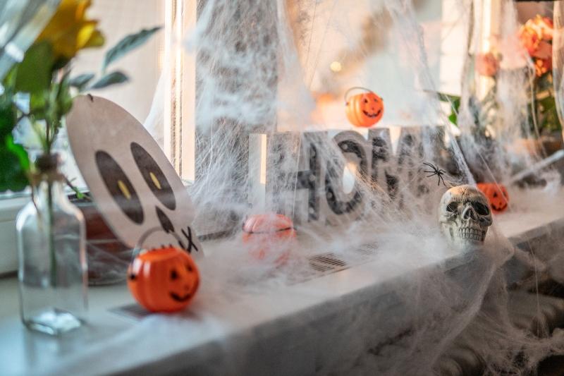 Décoration de fenêtre Halloween